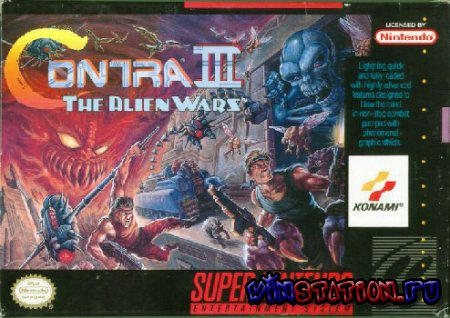 ������� ���� Contra III: The Alien Wars ��� SNES