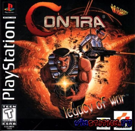 Contra: Legacy of War для PS 1