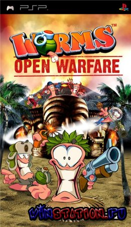—качать игру Worms: Open Warfare (PSP)