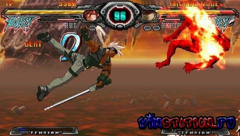 —качать игру Guilty Gear XX Accent Core Plus (PSP)