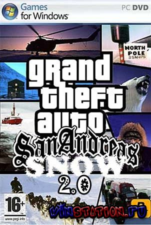 Скачать GTA IV (Snow mod 2.0) / Grand Theft Auto IV (PC/2010/RU) бесплатно