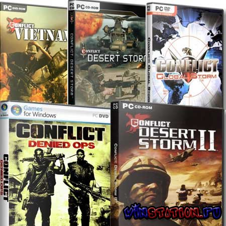 Антология Conflict 5 in 1 (PC/FULL/RePack/RU Audio)