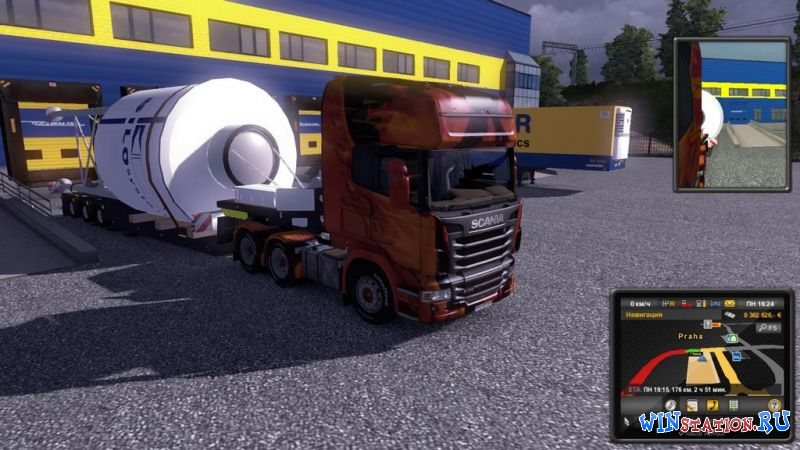 Euro Truck Simulator 2: Gold Bundle / С грузом по Европе v.1.9.24.1s +4 DLC