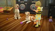 Дети играют с питомцами в дополнении Кошки и собаки