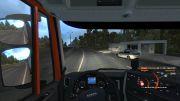 В игре симулятора дальнобойщика присутствует полиция