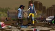 Симс 4 Экологичная жизнь дети играют на свалке