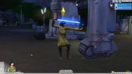 Главный аксесуар дополнения Симс 4 Звездные войны меч
